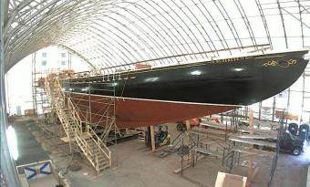 Lunenburg webcam - Bluenose II Restoration Project webcam, Nova Scotia, Lunenburg County
