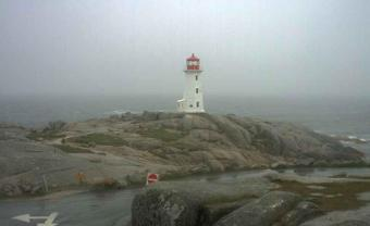 Peggy's Cove webcam - Peggy's Cove Lighthouse webcam, Nova Scotia, Halifax