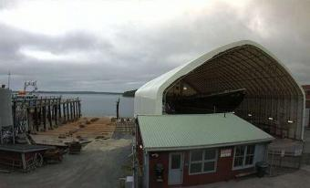 Lunenburg webcam - Bluenose Restoration Project, Lunenburg Shipyard webcam, Nova Scotia, Lunenburg County