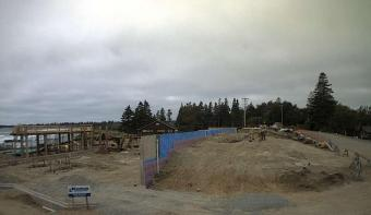 White Point webcam - White Point Beach Resort - Main Lodge Construction webcam, Nova Scotia, Region of Queens