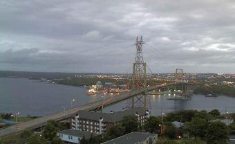 Halifax webcam - A. Murray MacKay Bridge webcam, Nova Scotia, Halifax