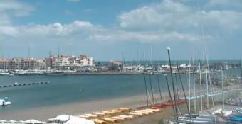 Cap d'Agde webcam - Plage du centre nautique a Agde webcam, Languedoc-Roussillon, Herault