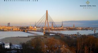 Riga webcam - Riga Shroud Bridge webcam, Riga, Riga