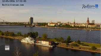 Riga webcam - Radisson Blu Daugava Riga webcam, Riga, Riga