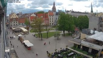 Riga webcam - Livu Square, Old Town of Riga webcam, Riga, Riga