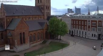 Riga webcam - Dome Square Old Town Riga webcam, Riga, Riga