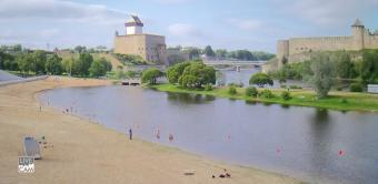 Narva webcam - Narva Castle and Ivangorod Fortress webcam, Estonia Regions, Ida-Viru County