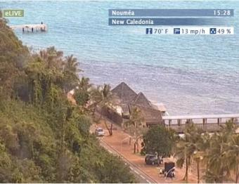Noumea webcam - Noumea - Cote Blanche  webcam, Melanesia, New Caledonia