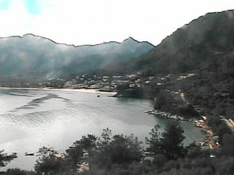 Thassos webcam - Thassos Webcam - Golden Beach (Skala Potamia & Skala Panagia)  webcam, Macedonia, Kavala