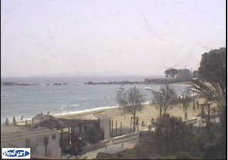 Le Lavandou webcam - Saint Clair – La Baleine  webcam, Provence-Alpes-Cote d'Azur, Var