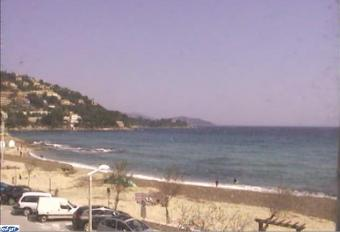 Le Lavandou webcam - Saint Clair - vers La Fossette  webcam, Provence-Alpes-Cote d'Azur, Var