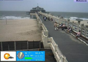 Blankenberge webcam - Blankenberge Pier webcam, Flanders, West Flanders