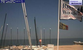 Knokke-Heist webcam - Knokke Riverwoods Beach Club webcam, Flanders, West Flanders
