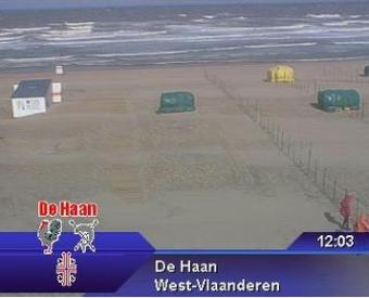 De Haan webcam - De Haan webcam, Flanders, West Flanders