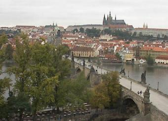 Prague webcam - Charles Bridge & Prague Castle webcam, Bohemia, Prague