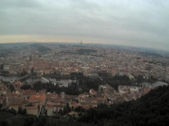 Prague webcam - Prague centre from Petrin Hill webcam, Bohemia, Prague