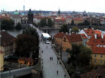 Prague webcam - Charles Bridge from Lesser Town webcam, Bohemia, Prague
