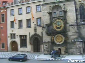 Prague webcam - Astronomical Clock on Old Town Square webcam, Bohemia, Prague