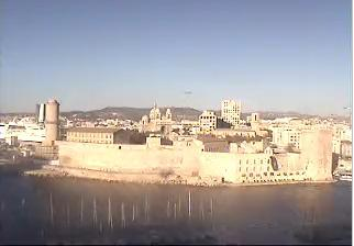 Marseille webcam - Marseilles - Fort St. Jean Le Major webcam, Provence-Alpes-Cote d'Azur, Bouches-du-Rhone