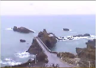 Biarritz webcam - Biarritz - Rock of the Virgin webcam, Aquitaine, Pyrenees-Atlantiques