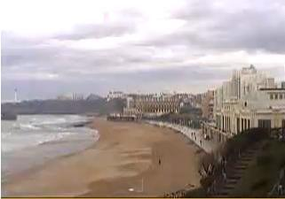 Biarritz webcam - Biarritz Beach webcam, Aquitaine, Pyrenees-Atlantiques