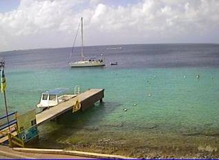 Bonaire webcam - Dive Friends - Yellow Submarine dive shop webcam, Bonaire, Bonaire