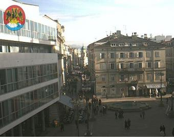 Rijeka webcam - Rijeka Fountains webcam, Primorje-Gorski kotar, Kvarner Bay