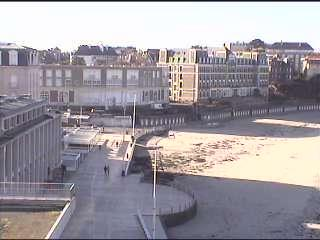 Dinard webcam - Digue webcam, Bretagne, Ille-et-Vilaine