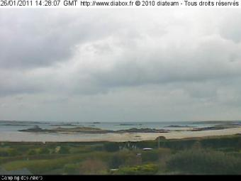 Landeda webcam - Camping des Abers webcam, Bretagne, Finistere