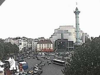 Paris webcam - Paris, Place de la Bastille webcam, Ile-de-France, Paris