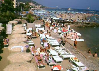 Diano Marina webcam - Bagni Ponterosso Windsurf Center webcam, Liguria, Imperia