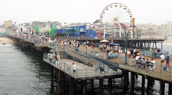 Santa Monica webcam - Pacific Park webcam, California, Los Angeles County