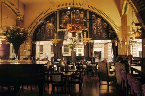 cafe americain in amsterdam randstad netherlands. Black Bedroom Furniture Sets. Home Design Ideas