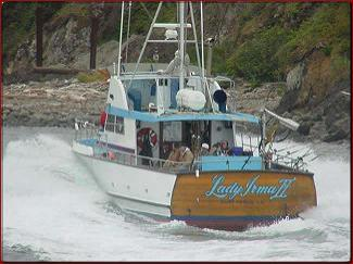 Lady irma charters in fort bragg mendocino county united for Fort bragg fishing