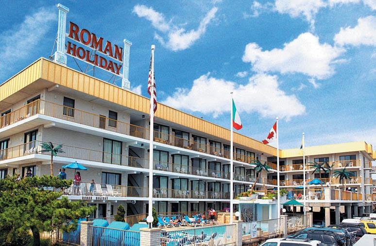 roman holiday resort hotel in north wildwood cape may. Black Bedroom Furniture Sets. Home Design Ideas